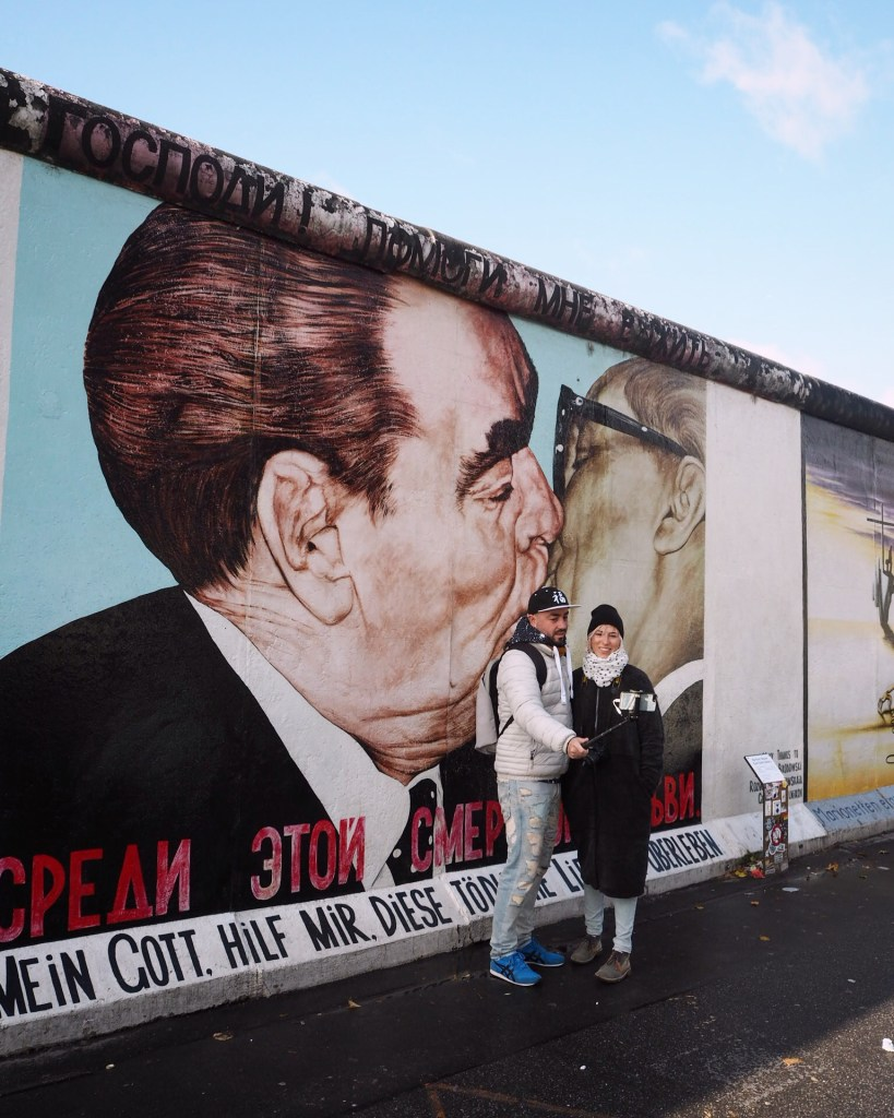 The famous East Side Gallery, Berlin. Best free places to visit in Berlin