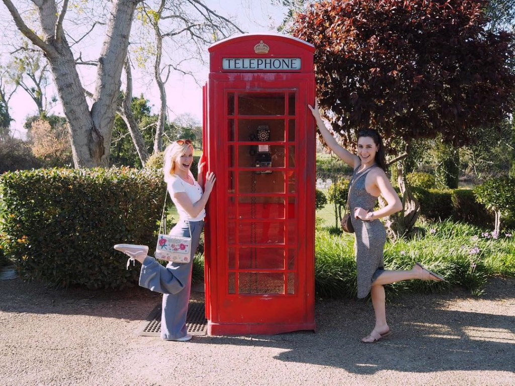 red phone box girls