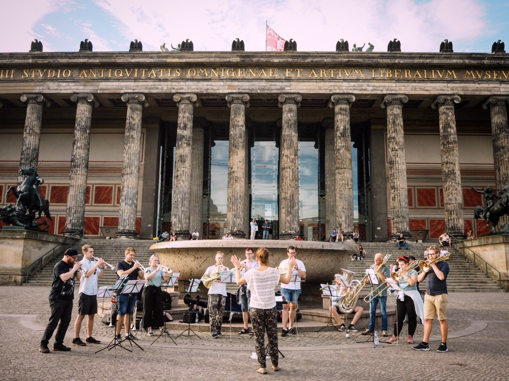 an orchestra on Museum Island in Berlin