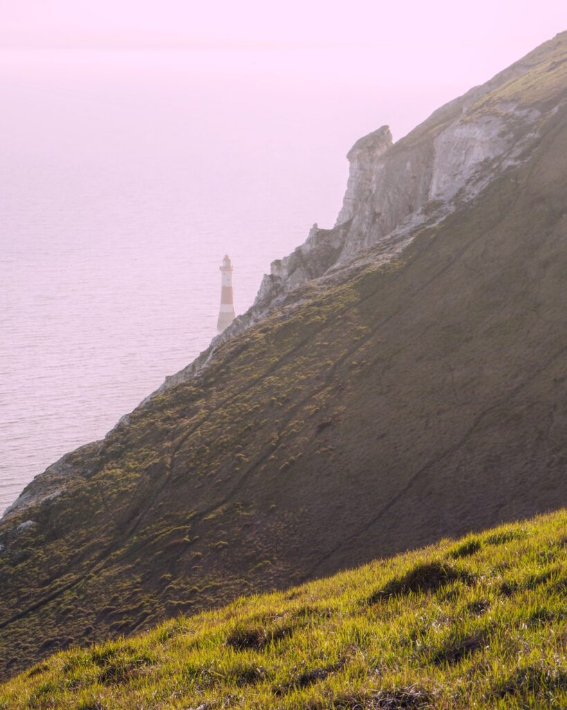 the cliffs at Beachy Head lighthouse