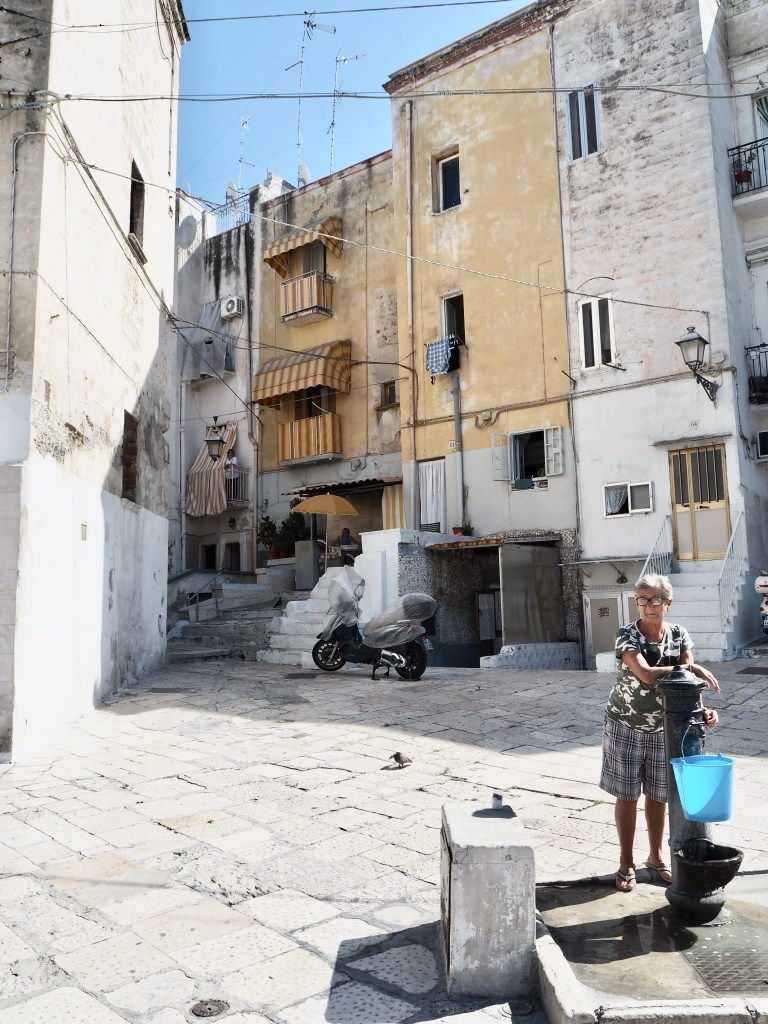 old woman on the streets of BariVecchia