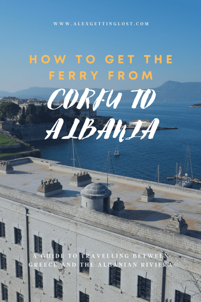 how to get the ferry from Corfu to Albania