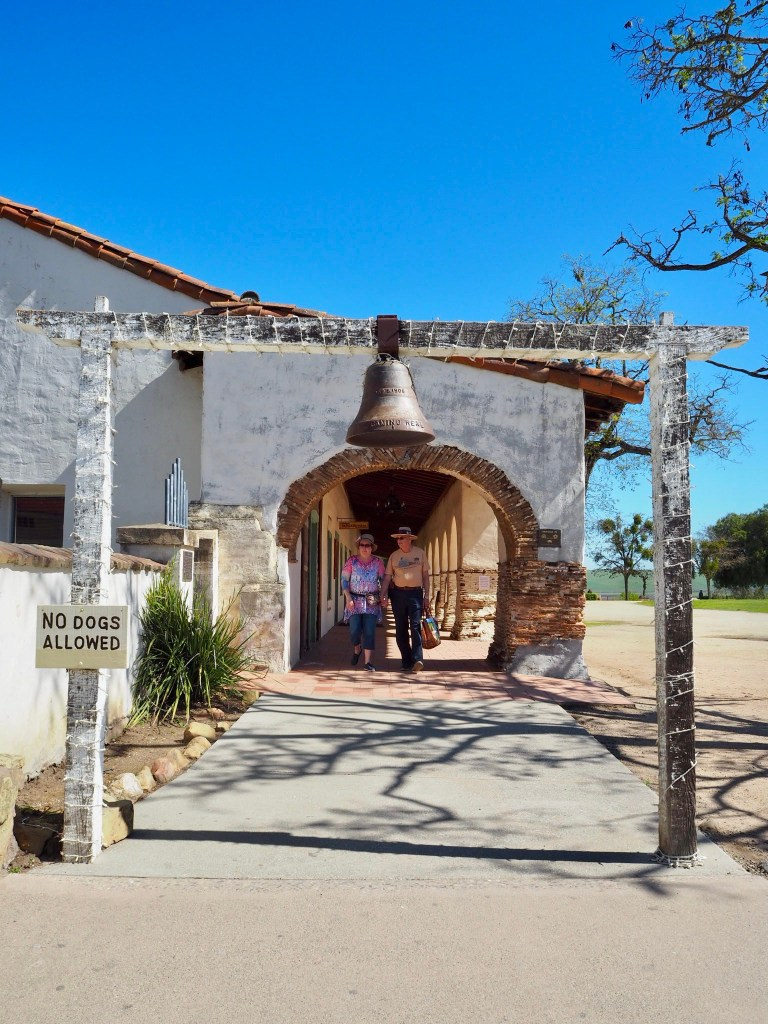 a bell outside the Mission San Juan Bautista