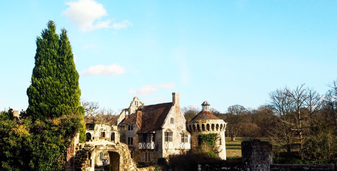 Scotney castle in England