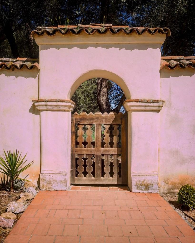 doorway to the mission garden