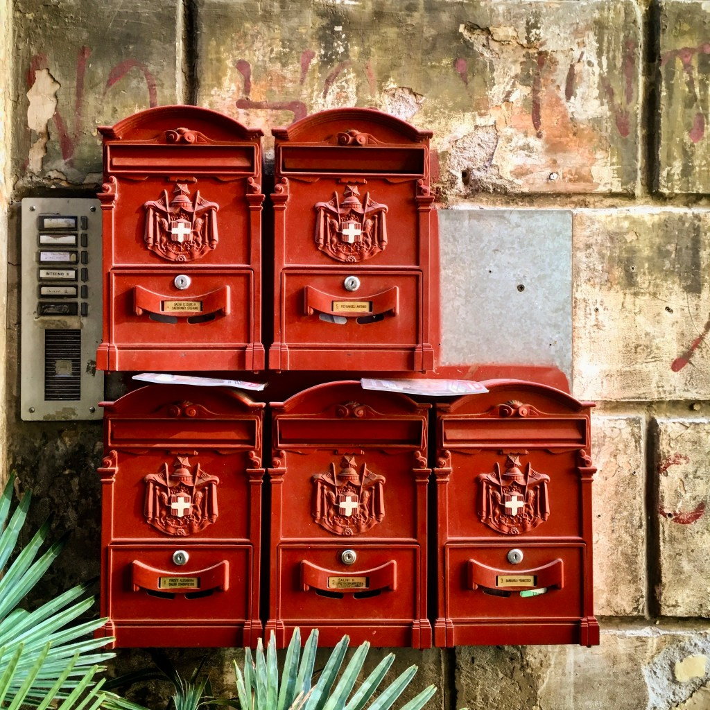 red letter boxes in Rome