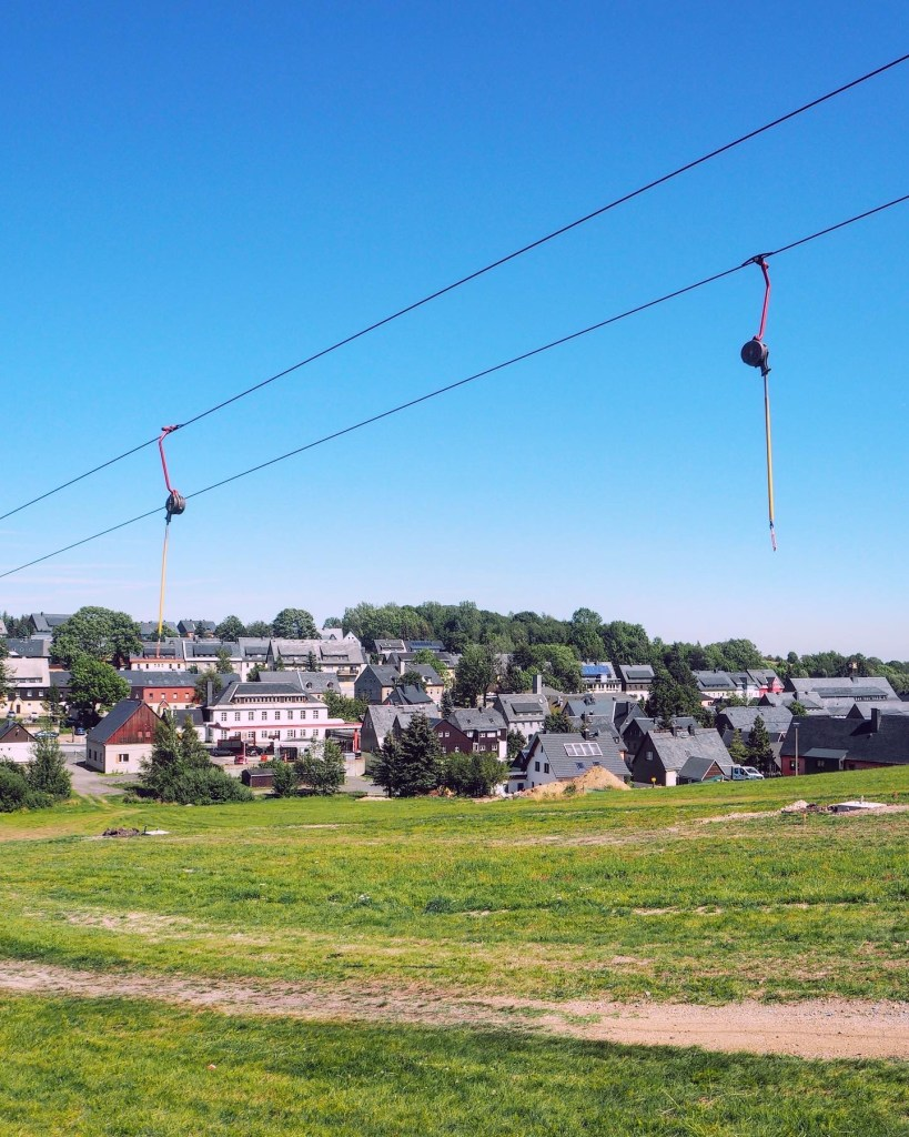 a ski lift in Altenberg during summer