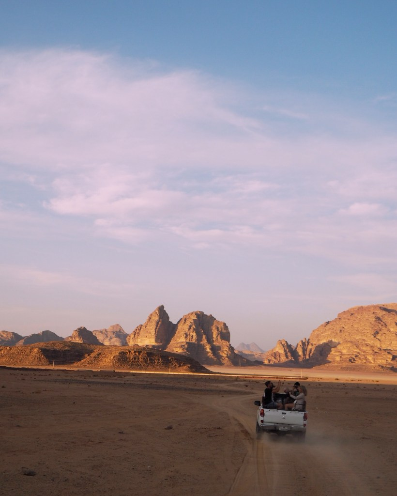 on a jeep tour in Wadi Rum