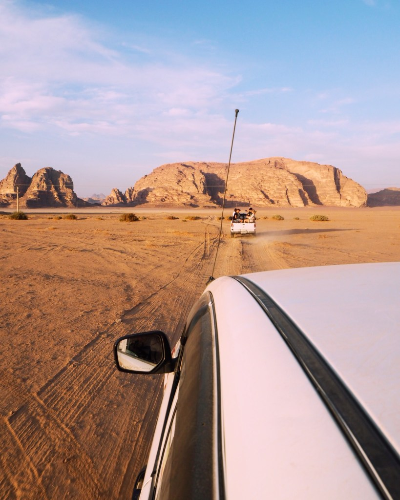 view from a Wadi Rum jeep tour