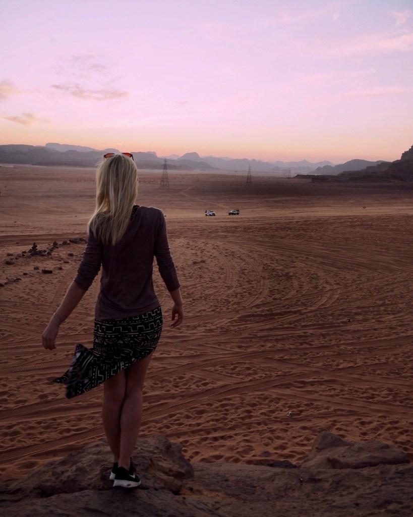 woman standing in Wadi Rum desert