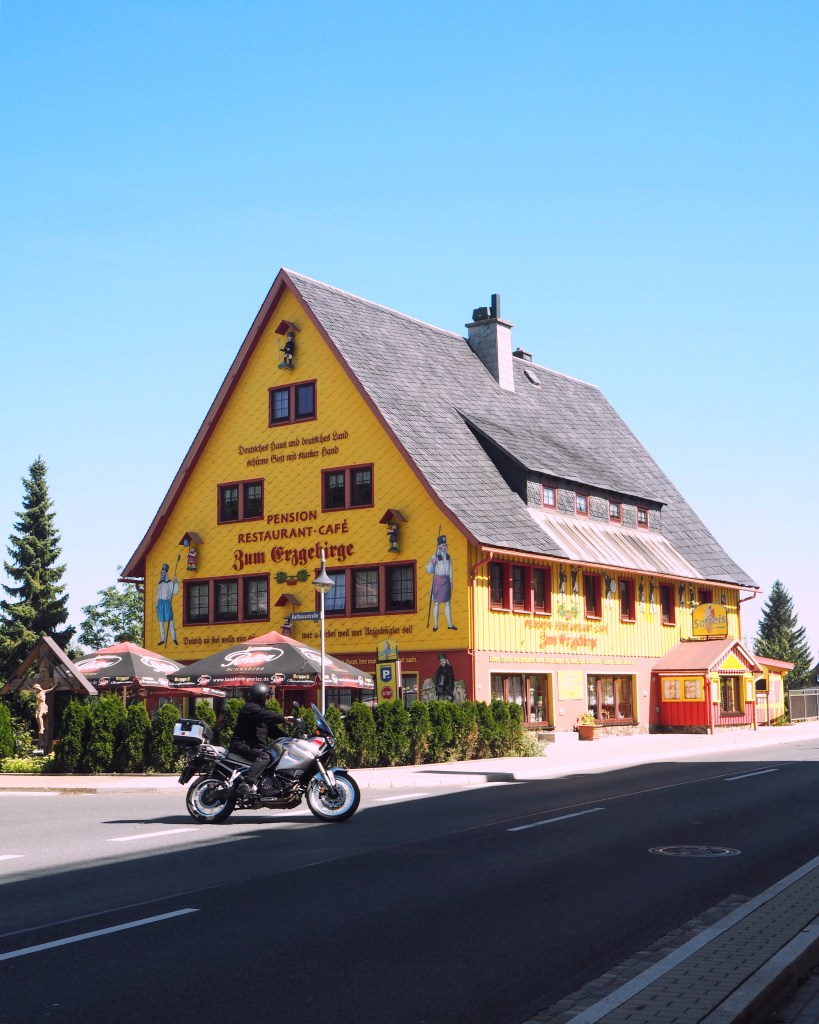 Saxony in Summer - a yellow guesthouse in Germany