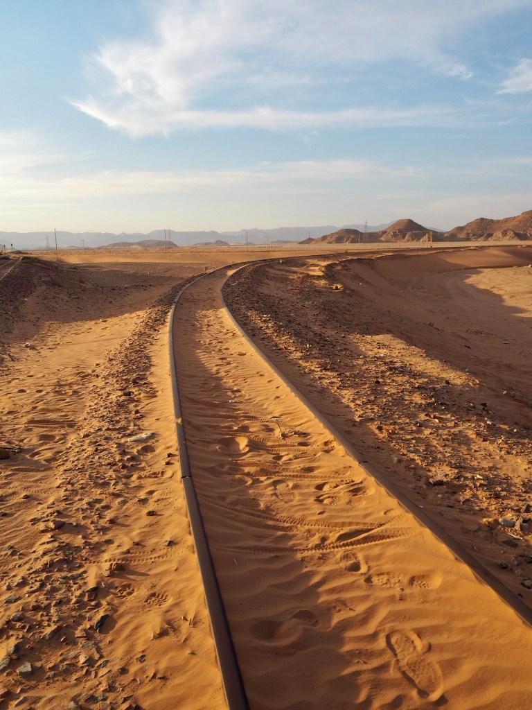 stop at the Hejaz Railway in Wadi Rum
