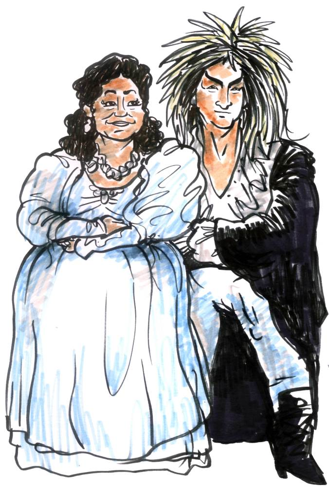 Tiffany Beau and VJ Spankie -Sarah and The Goblin King from Labyrinth