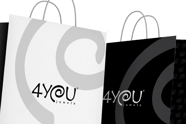 Creatività grafica packaging buste shopper 4You