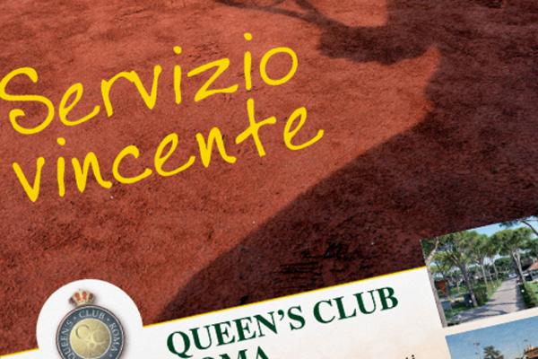Creatività pagine pubblicitarie Queen's Club
