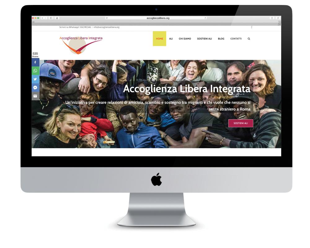 Realizzazione sito Accoglienza Libera Integrata   alexiamasi.com