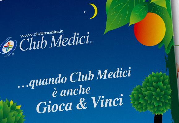 Impaginazione grafica pieghevoli Club Medici
