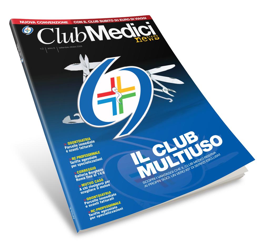 Impaginazione grafica rivista Club Medici