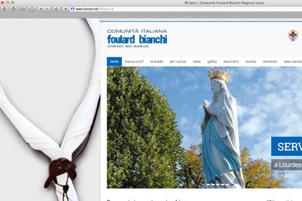 Realizzazione sito web Foulard Bianchi Lazio