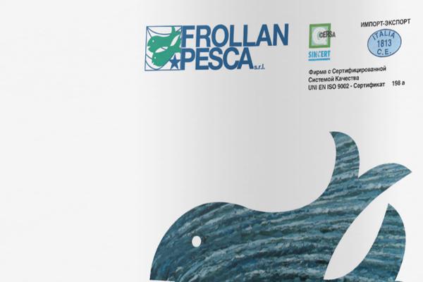 Creatività pagine pubblicitarie Frollan Pesca