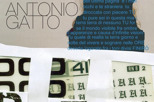 Impaginazione grafica catalogo arte Antonio Gatto