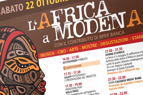 Creatività pagine pubblicitarie Ottobre Africano