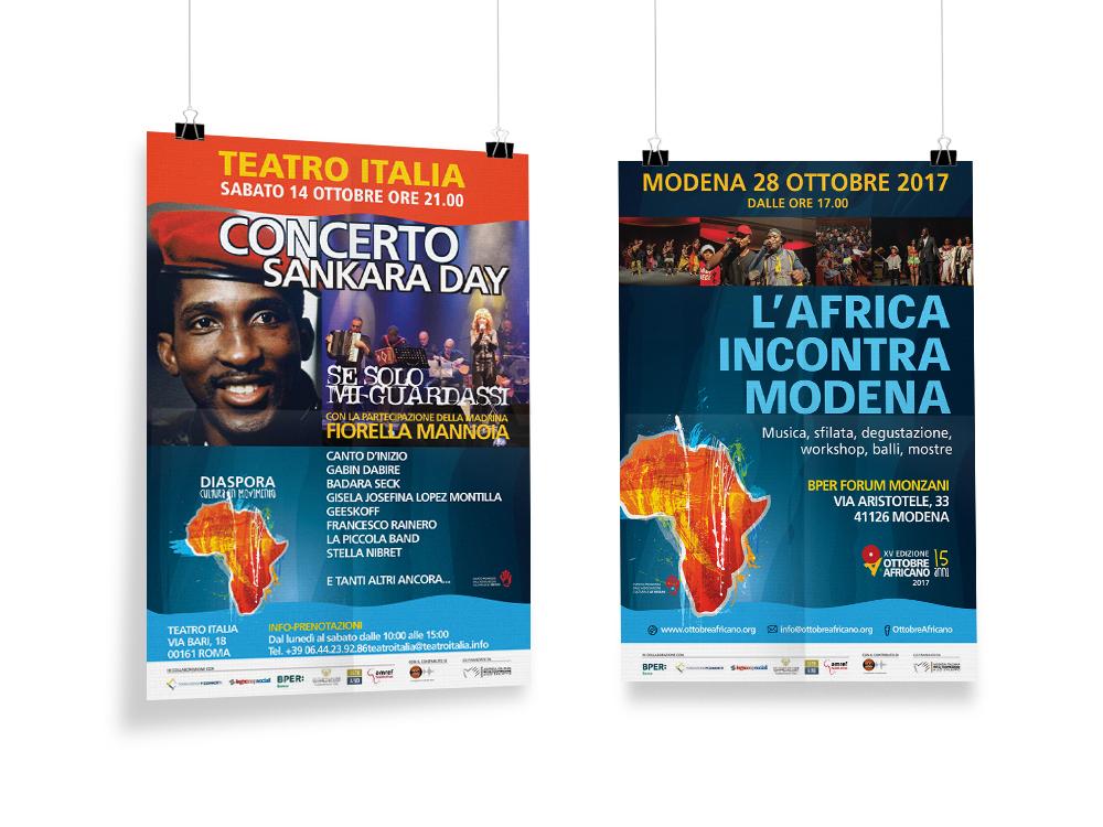 Creatività pubblicitaria eventi Ottobre Africano 2017