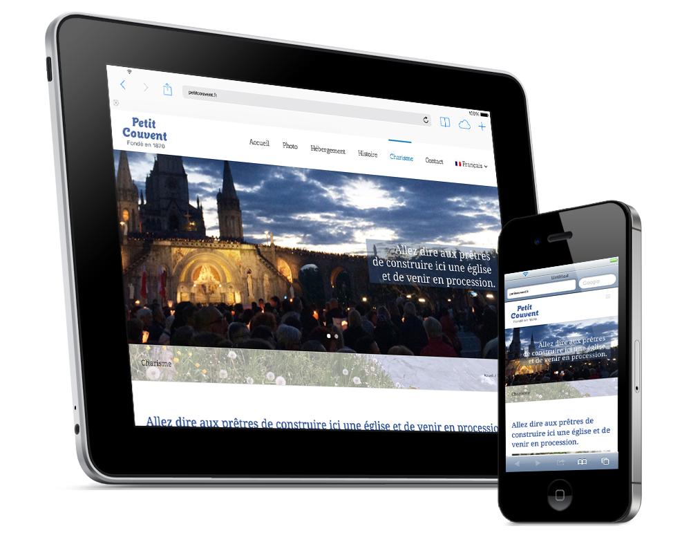 Realizzazione sito web multilingue Petit Couvent   alexiamasi.com