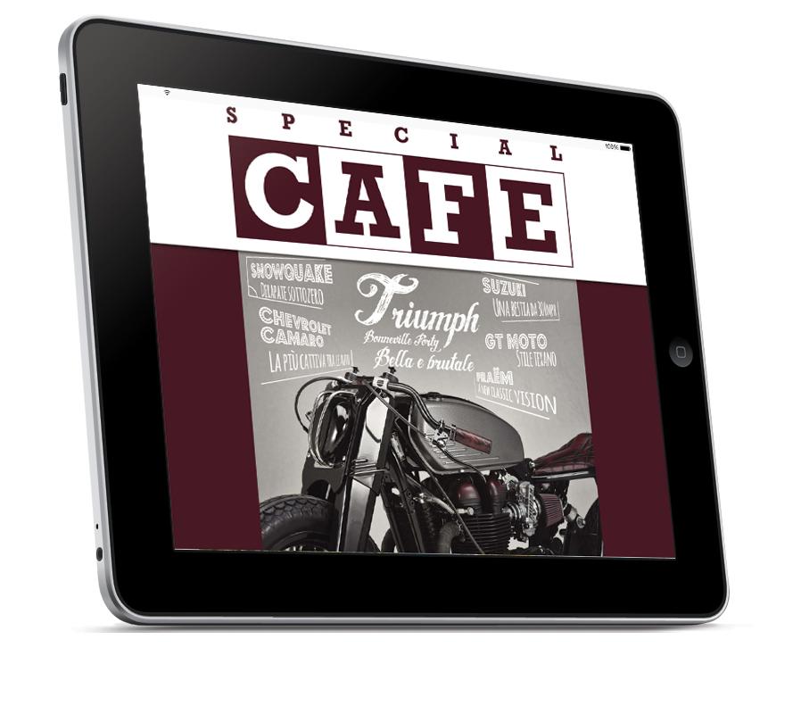 Impaginazione grafica rivista digitale Special Cafe