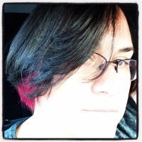 Alexia, pink hair & all.