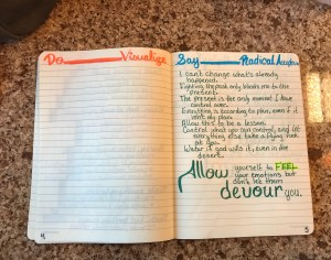 SAY - Radical Acceptance page | DBT in the Bullet Journal