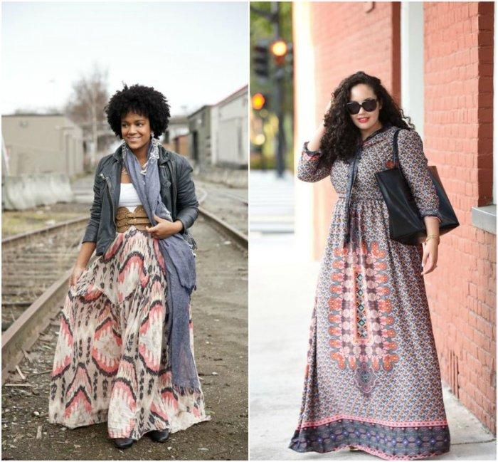 Plus Sized Maxi Scarf Dress