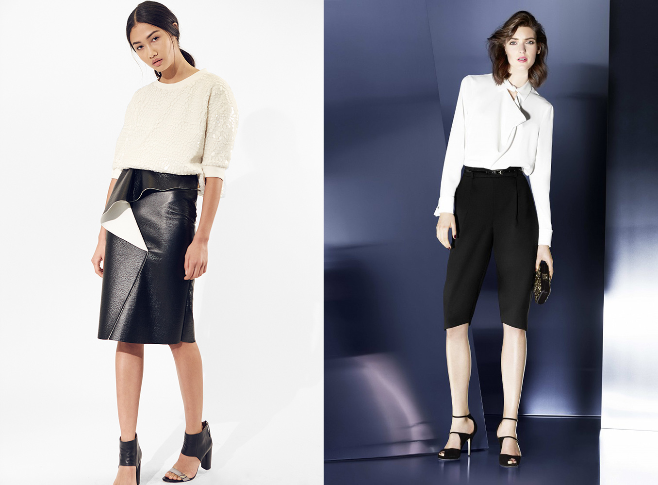 How To Wear And Style Black Pants With White Shirts