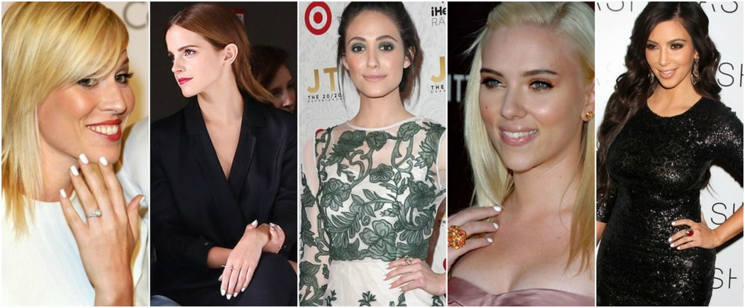 white nail varnish celebrity inspiration