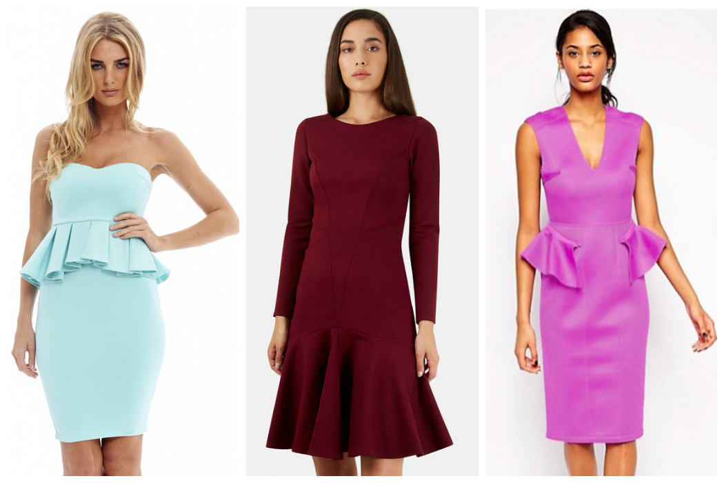 bold-colour-peplum-dresses
