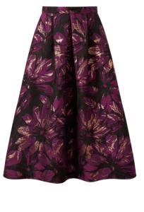 Miss Selfridge Purple Floral Jacquard Midi Skirt £24