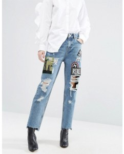 Asos Original Mom Jeans with Badges