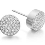 Ava Button Stud Earrings £350