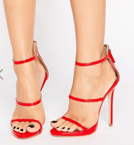 Public Desire Aisha Red Strappy Heeled Sandals £29.99