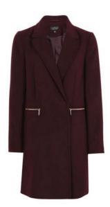 Topshop Slim Fit Boyfriend Coat £59.00