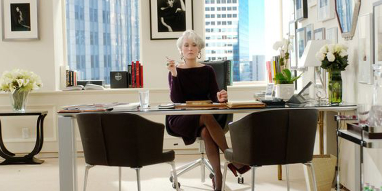 Interview setting scene from the film the Devil wears prada