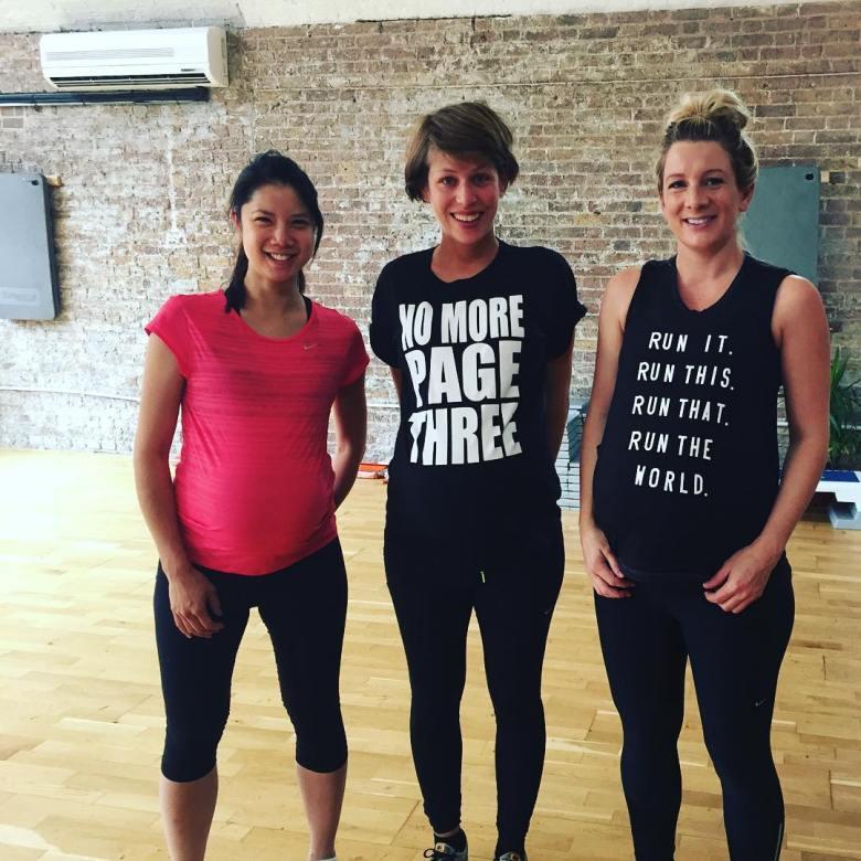 Frame mumhood pre natal fitness class group shot