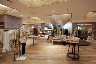Interior of an Anthropologie store