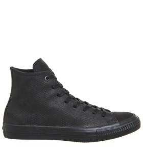 Converse, Black, Leather