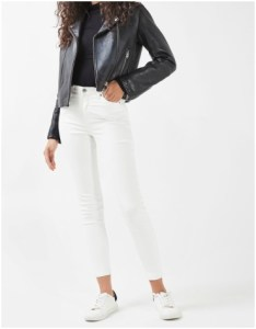 Topshop MOTO White Coated Jamie Jeans
