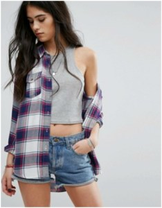 ASOS Superdry boyfriend blue and red check shirt