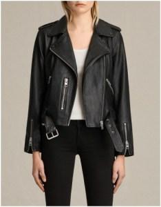 All Saints Black Leather Jacket