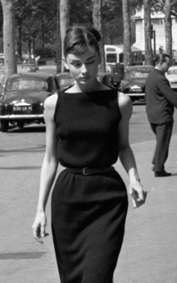Audrey Hepburn work / office style little black dress - shop the look