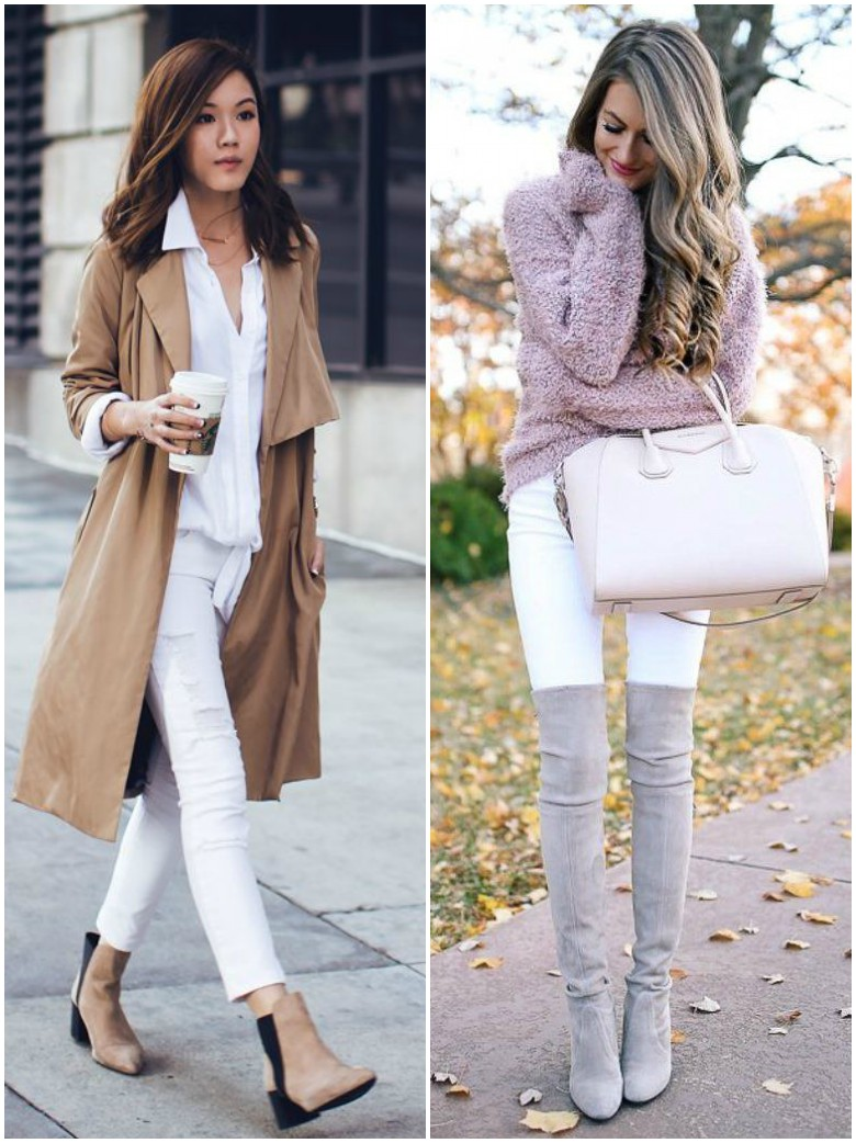 Autumn Winter White Jeans