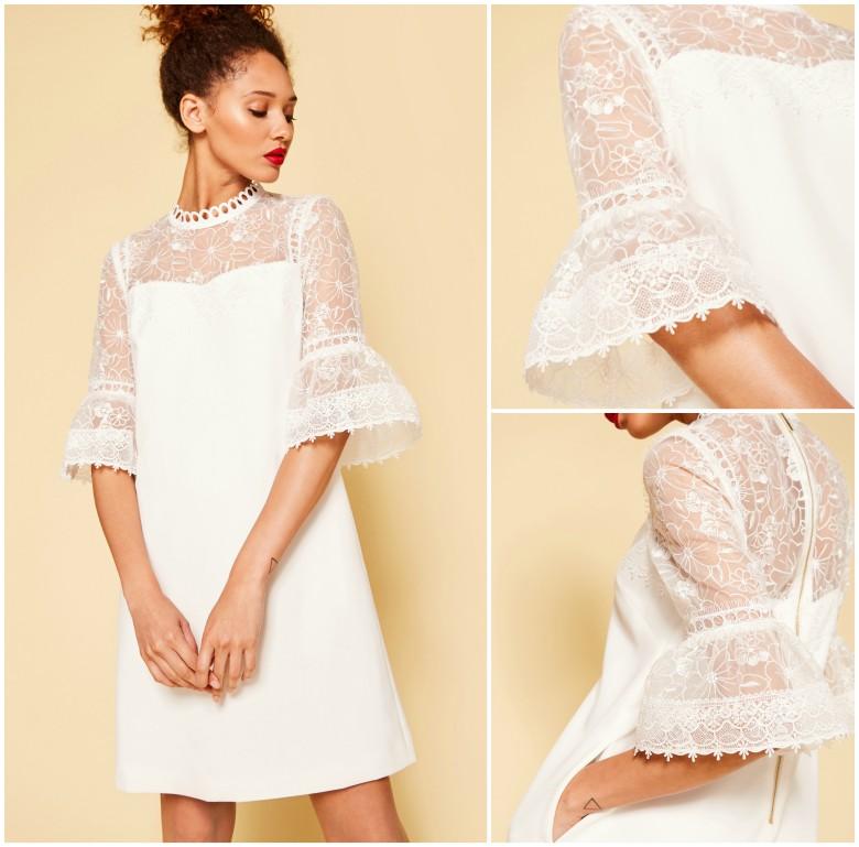 Ted Baker RAECHAL - Lace peplum dress